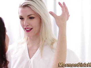 Lesbian mormon gets oral
