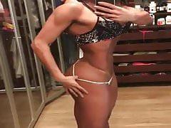 hottest muscular woman Brazil
