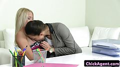 Auditioning eurobabe straponed by chick agent
