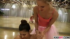 Ballerinas punishing the newbie