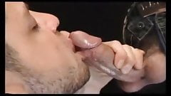 Guys eating cum from wife mouth