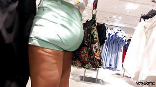 Plump Ass In Green Shorts H&M