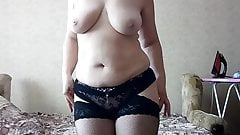 Sexy mature striptease