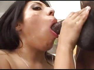 Latina vs 3 big cocks