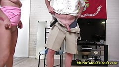 Horny Housewife Masturbates then Wants to FUCK!