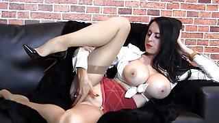 Milf huge tits tease nylons feet vintage lingerie high heels