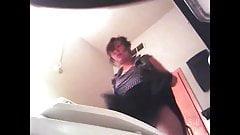 Asian Nerd Spyed On Toilet (Plus Upskirt)