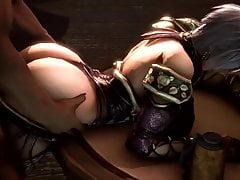 Big Ass Ivy From behind and titfuck (Soul Calibur 3D Hentai)
