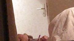 Hidden cam window sexy Girl masturbating