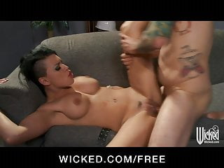 Wicked Sexy Brunette Femdom Eva Angelina Loves Rough Sex