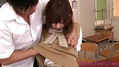 Small japan schoolgirl Mika Airi fucked in classroom