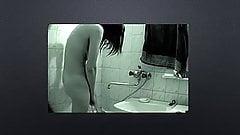 friend nude in bathroom