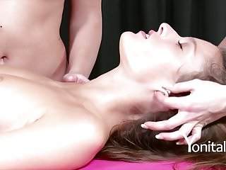 Preview 3 of Yonitale: orgasmic massage with Silvie Luca and 2 babes