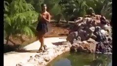 FA Teen Enjoys A Walk And Fuck In The Sun !