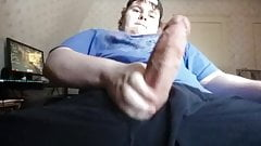 young man with giant cock