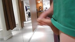Cum outside the fittingroom