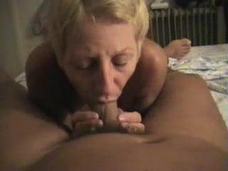 giving wife Filming a wet blowjob my
