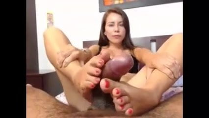 Footjob spanish