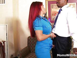 Busty Redhead Mom Helena Hughes Fucking Big Black Cock