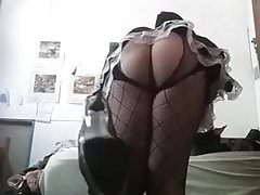 CD in sexy lingerie teases