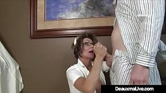 Busty Mature Nurse Deauxma Gives Patient Sloppy Hot Handjob!'s Thumb