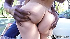 Kelsie Monroe attracts a massive black dick with her fat ass