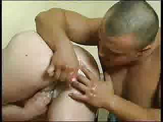 Guy fucked in the ass fat blonde
