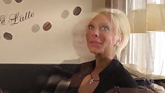 Sexy Blonde MILF First Porn