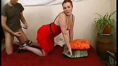 Delphine takes 2 cocks