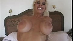 Mature blonde shows how perfect tits bounce