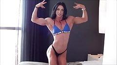 super sculpted muscular woman 's Thumb