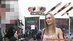 Pawnshop spex amateur doggystyled for cash