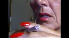 lovely sexy smoking with super sexy red nails fingernails's Thumb