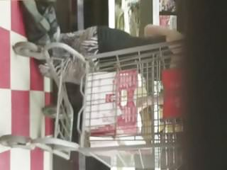 Fat white booty at store