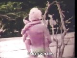 Asian Vixen Fucked by White Boy on Beach (1960s Vintage)