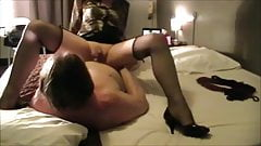 Alexandra, assfucked in fishnet stockings