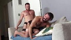 Bareback gays in stockings