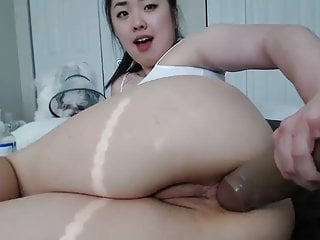 Harassed Min Anal Big Dildo Play