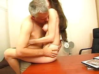 Teen Russian passionately fucks old lover