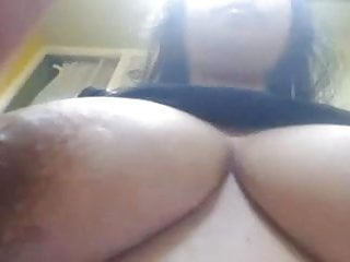 Milk Squeezed From Inverted Nipples On Large Breast Girl