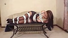 LINGERIE MODEL TIED & GAGGED