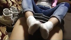 Chinese SNEAKER SOCK Footjob