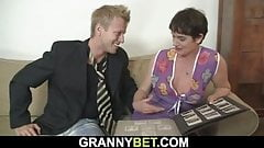 Hunky dude fucks her hairy old pussy's Thumb