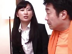 Japanese office wife after sex