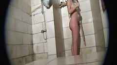 Spying on hot wife in the shower