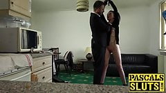 Dirty Maddison punished with hard cock