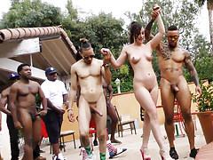 Jennifer White Interracial Orgy