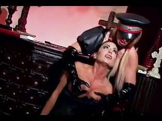 Lesbian Mistress giving her slave girl a rough fucking