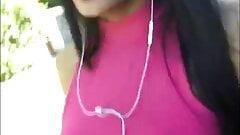 Braless Brazillian Girl