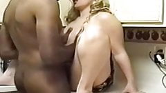 chubby wife takes bbc in ktchen